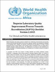 Stepwise Laboratory Quality Improvement Process Towards