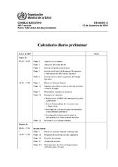 Calendario Diario.Calendario Diario Preliminar