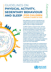Guidelines on physical activity, sedentary behaviour and
