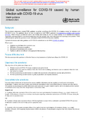 Global Surveillance For Covid 19 Caused By Human Infection With Covid 19 Virus Interim Guidance 20 March 2020