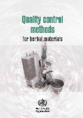 Quality control methods for herbal materials