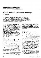 Health and culture in urban planning / Shigeaki Baba