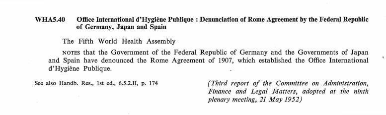 Office International Dhygine Publique Denunciation Of Rome