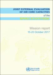 Joint external evaluation of IHR Core Capacities of the Republic of South Sudan