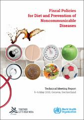 Fiscal policies for diet and the prevention of noncommunicable diseases