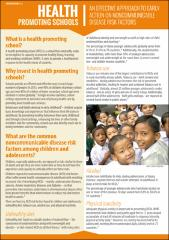 Health Promoting School: an effective approach for early action on NCD risk factors
