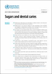Sugars and dental caries