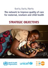 Quality, equity, dignity: the network to improve quality of care for maternal, newborn and child health – strategic objectives