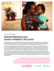 Breastfeeding and family-friendly policies: advocacy brief
