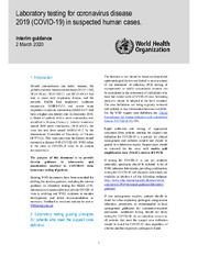 Laboratory testing for 2019 novel coronavirus (2019-nCoV) in suspected human cases