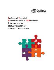 Package of essential noncommunicable (?PEN)? disease interventions for primary health care in low-resource settings