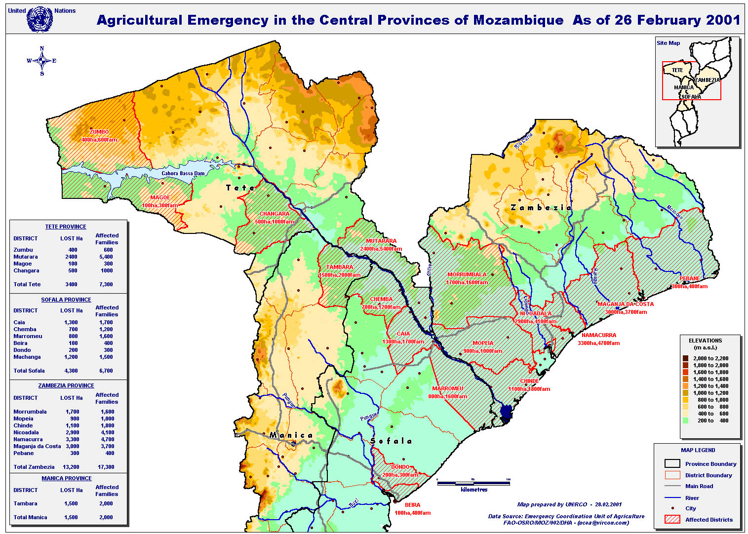 Agricultural emergency in the central provinces of mozambique as published on 28 feb 2001 view original sciox Choice Image