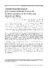 diabetes mellitus y tuberculosis pdf
