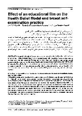 Effect Of An Educational Film On The Health Belief Model And Breast Self Examination Practice