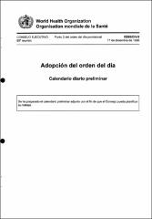 Calendario Diario.Adopcion Del Orden Del Dia Calendario Diario Preliminar