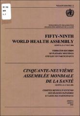 Fifty Ninth World Health Assembly Cinquante Neuvifime