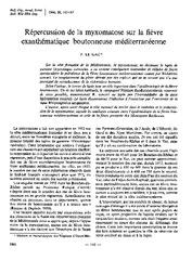 Répercussion de la myxomatose sur la fièvre exanthématique ...