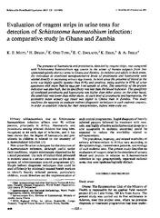 schistosoma haematobium test