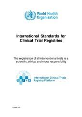 International Standards for Clinical Trial Registration