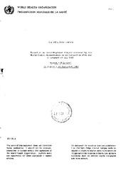 WORLD HEALTH ORGANIZATION ORGANISATION MONDIALE DE LA SANTE