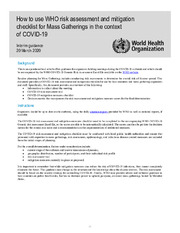 Health workers exposure risk assessment and management in ...