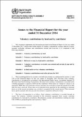 Annex to the financial statements (A68/INF./1)