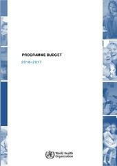 Programme budget 2016-2017
