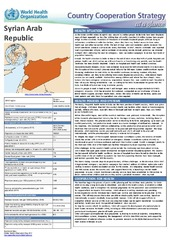 WHO country cooperation strategy at a glance: Syria