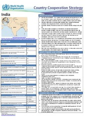 WHO Country Cooperation Strategy 2018 brief: India