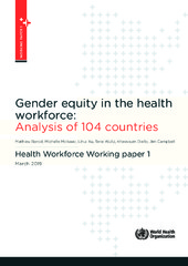 Gender equity in the health workforce: Analysis of 104 countries