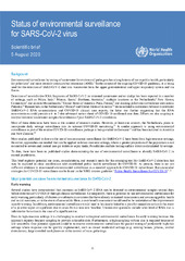 Status of environmental surveillance for SARS-CoV-2 virus