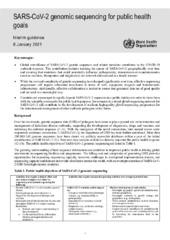 SARS-CoV-2 genomic sequencing for public health goals: Interim guidance, 8 January 2021