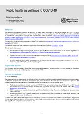 Public health surveillance for COVID-19: interim guidance