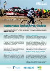 Sustainable transport for health