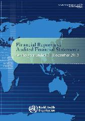 Financial report and audited financial statements for the year ended 31 December 2013