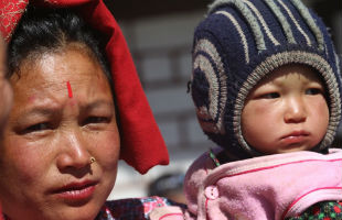 A Nepalese woman and child.