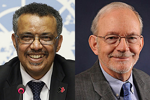 Dr Tedros Adhanom Ghebreyesus, WHO Director-General, Anthony Lake, UNICEF Executive Director