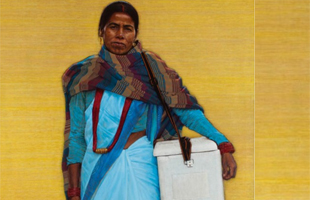 Painting: The unknown health worker by Thomas Ganter